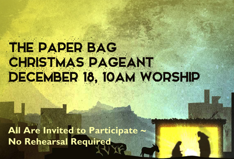 Paper Bag Christmas Pageant